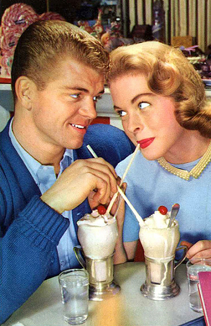 Married Sex: a fairy tale in three parts, a young couple sharing ice cream sodas
